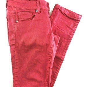 American Eagle Orange Skinny Jeans Size 2R CO30